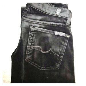 7 for all Mankind Black Velour Pants